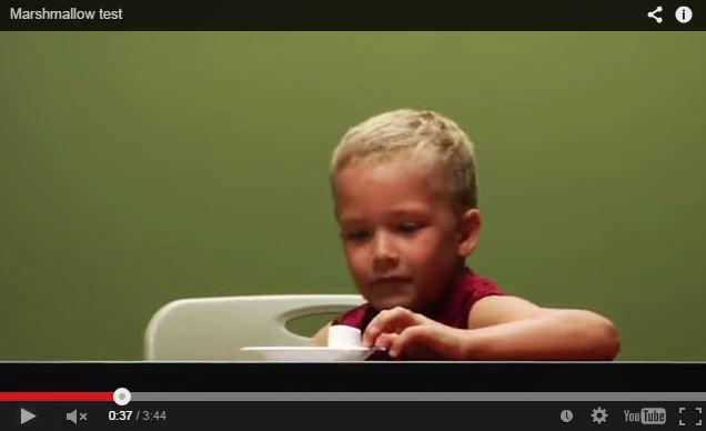 Vous pouvez faire le test du Chamallow avec votre enfant