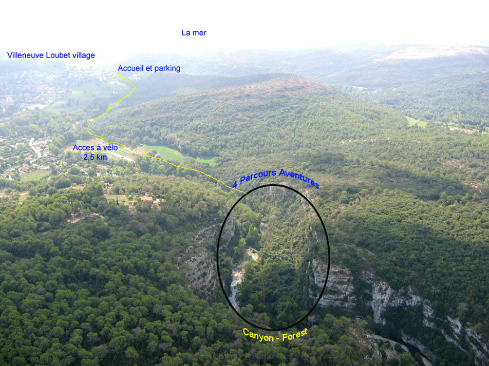 Descriptif de la position géographique de Canyon Forest